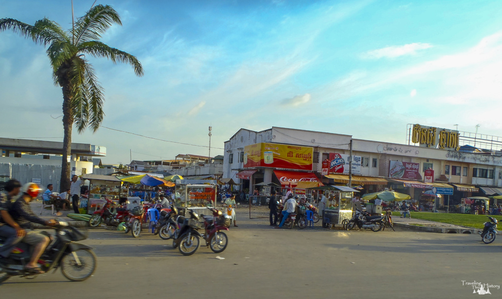 Typical main street in Phnom Penh