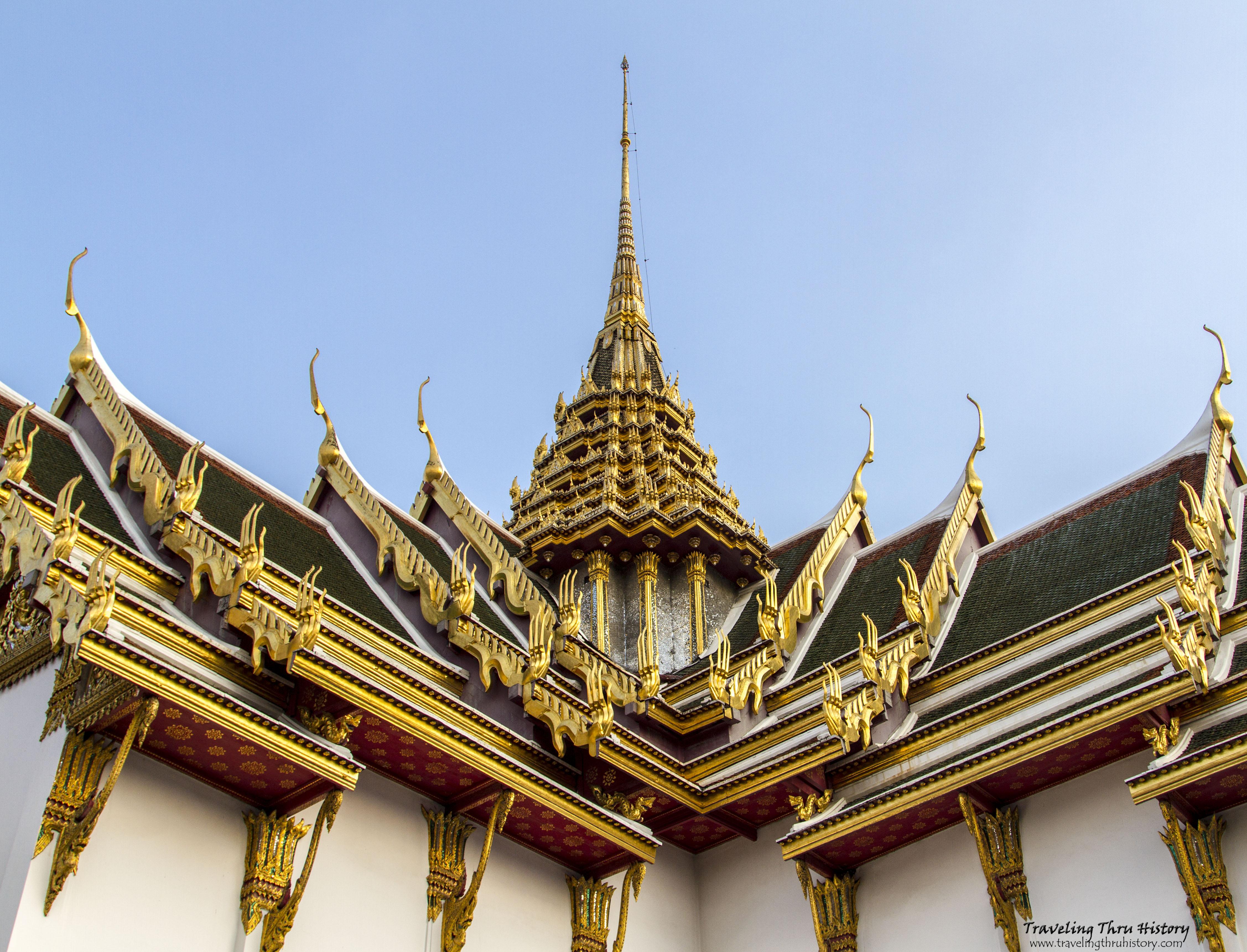 Roof of Phra Thinang Dusit Maha Prasat  Traveling Thru ...